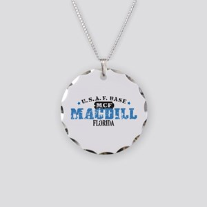 MacDill Air Force Base Necklace Circle Charm