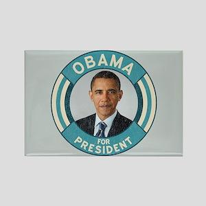 Blue Obama for President Rectangle Magnet