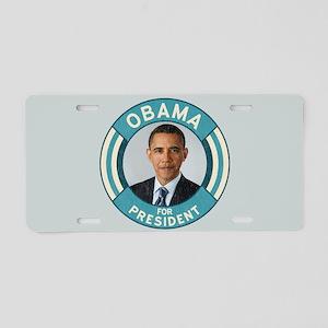Blue Obama for President Aluminum License Plate
