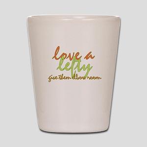 Lefty Love Shot Glass