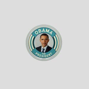 Blue Obama for President Mini Button
