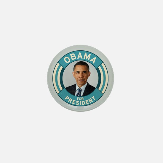 Blue Obama for President Mini Button