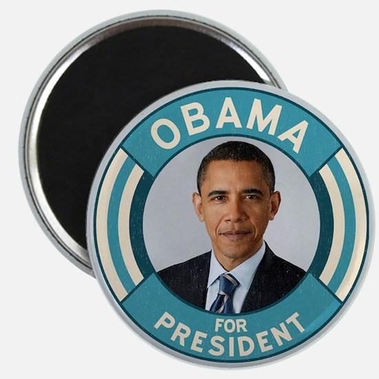 Blue Obama for President Magnet