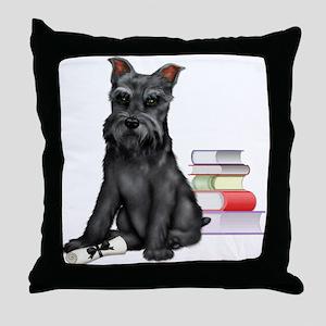 puppy graduate Throw Pillow