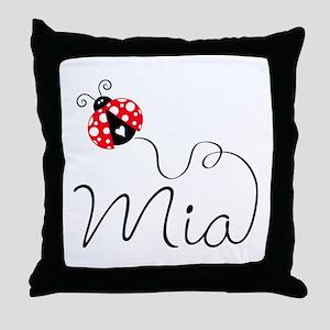 Ladybug Mia Throw Pillow