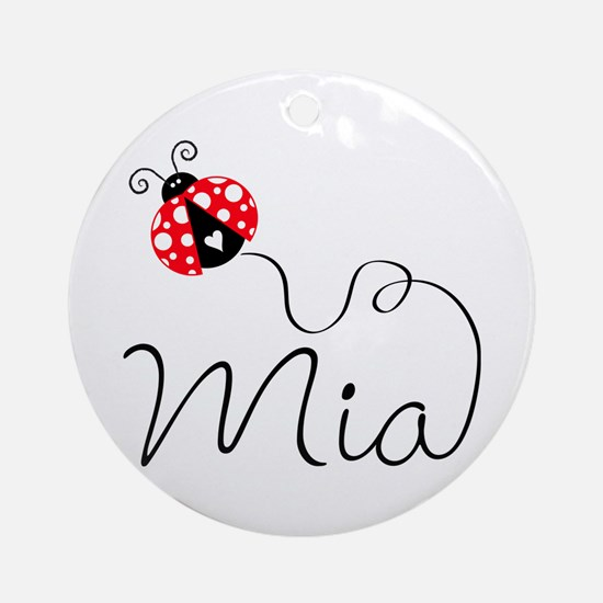 Ladybug Mia Ornament (Round)