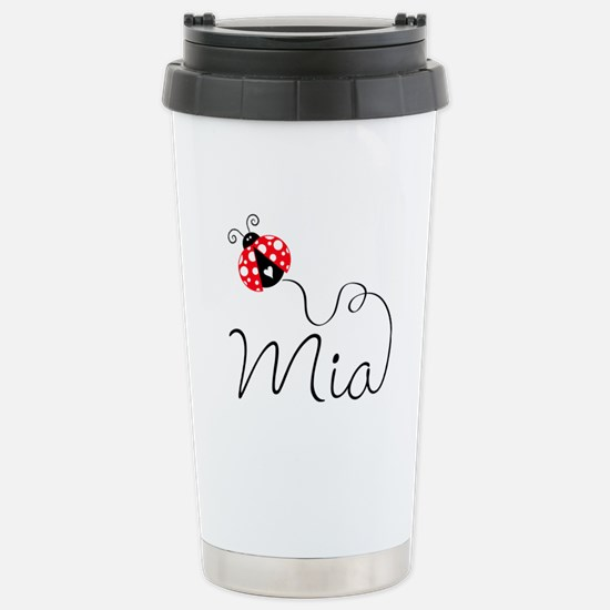 Ladybug Mia Stainless Steel Travel Mug