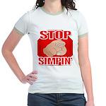 Stop Simpin' Jr. Ringer T-Shirt