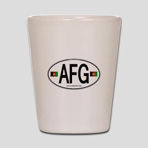 Afghanistan Euro Oval Shot Glass