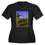 Saguaro Zombies Zombie 2 Women's Plus Size V-Neck