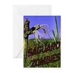 Saguaro Zombies Zombie 2 Greeting Cards (Pk of 10)