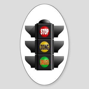 KICK THE HABIT Sticker (Oval)