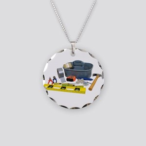 handyman bbq hammer duct charm tape necklace circle and