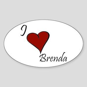 I love Brenda Sticker (Oval)