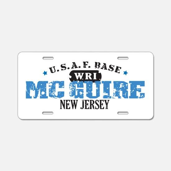 McGuire Air Force Base Aluminum License Plate