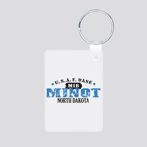 Minot Air Force Base Aluminum Photo Keychain