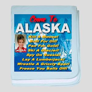 Come To Alaska baby blanket