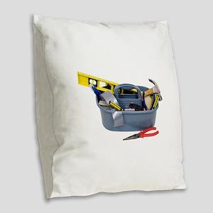ToolBox071809 Burlap Throw Pillow