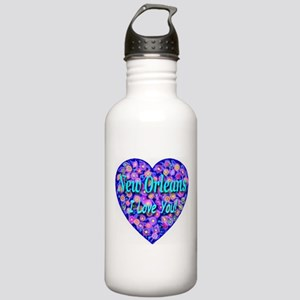 New Orleans I Love You! Stainless Water Bottle 1.0