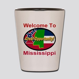 Welcome to Mississippi Great Opportunity Shot Glas