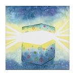 Birthday Box Watercolor Tile Coaster