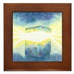 Birthday Box Watercolor Framed Tile