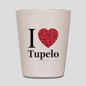 I Love Tupelo Shot Glass