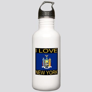 I Love New York Stainless Water Bottle 1.0L
