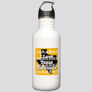 I Love Texas Railroads Stainless Water Bottle 1.0L