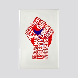 Worker's Civil Rights Rectangle Magnet