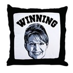 Palin Winning Throw Pillow
