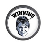 Palin Winning Wall Clock