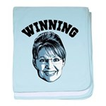 Palin Winning baby blanket