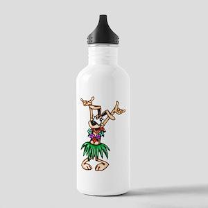Hawaiian Cartoon Dog Stainless Water Bottle 1.0L