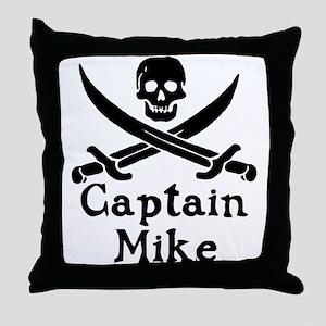Captain Mike Throw Pillow