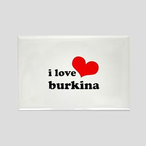 I Love Burkina Rectangle Magnet
