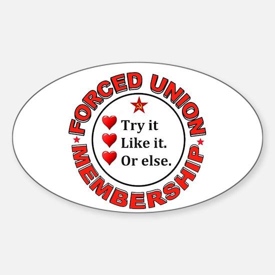 JUST VOTE NO Sticker (Oval)