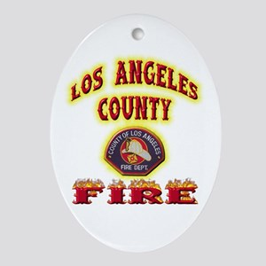 Los Angeles County Fire Ornament (Oval)
