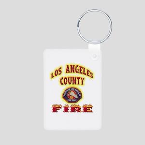 Los Angeles County Fire Aluminum Photo Keychain