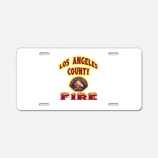 Los Angeles County Fire Aluminum License Plate