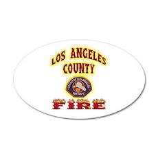 Los Angeles County Fire 22x14 Oval Wall Peel