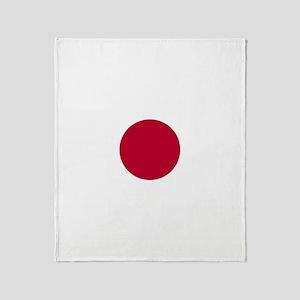 Japanese Flag Throw Blanket
