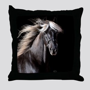 Chocolate Rocky Mtn Horse Throw Pillow