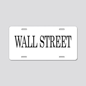Wall Street Aluminum License Plate