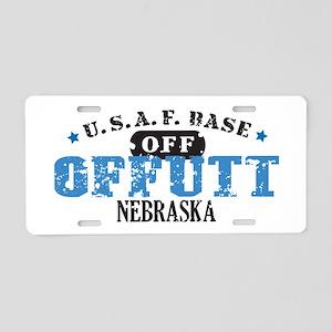 Offutt Air Force Base Aluminum License Plate