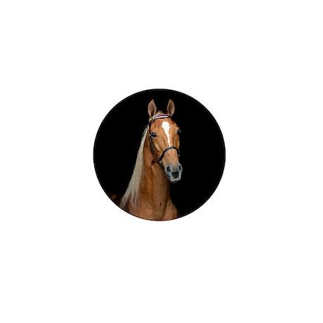 Sorrel Horse Mini Button
