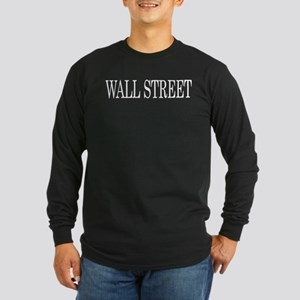 Wall Street Long Sleeve Dark T-Shirt