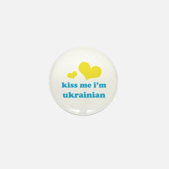 Kiss Me I'm Ukrainian Mini Button