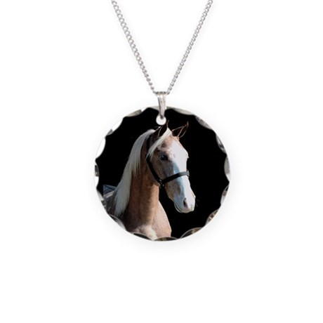 Red Roan Dun Horse Necklace Circle Charm