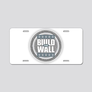 Build the Wall Aluminum License Plate